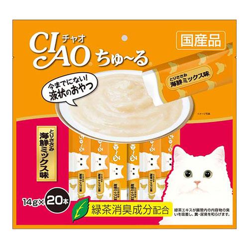 チャオ ちゅ〜る とりささみ 海鮮ミックス味 14gx20本 製品画像