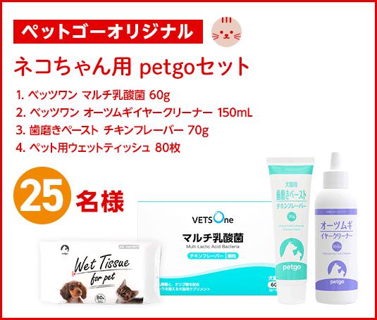 ネコちゃん用petgoセットプレゼント