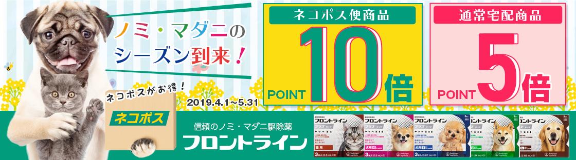 フロントラインポイントアップキャンペーン ネコポスはポイント10倍!