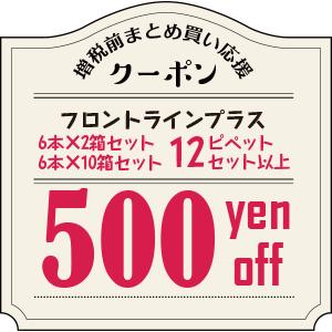 12ピペット以上500円OFF