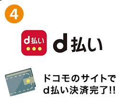 4.ドコモのサイトでd払い決済完了!!