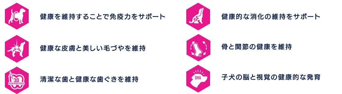ユーカヌバ製品の6つの特長