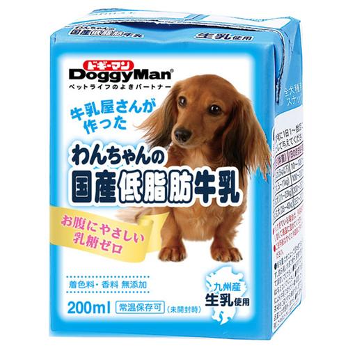ドギーマン わんちゃんの国産低脂肪牛乳 200mL