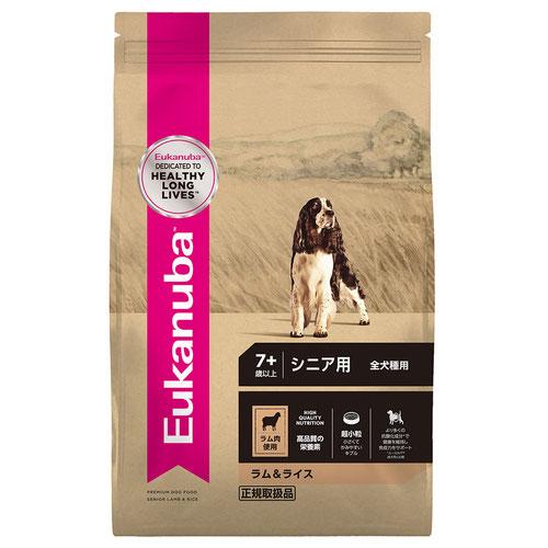 ユーカヌバ ラム&ライス シニア用 全犬種用 7歳以上 7.5kg【在庫限り】