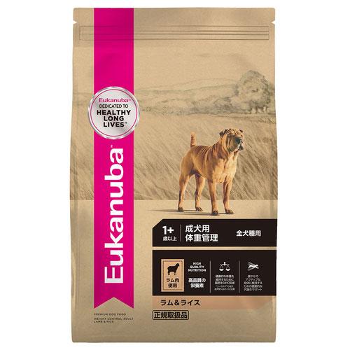 ユーカヌバ ラム&ライス 成犬用 体重管理 全犬種用 1歳以上 6kg【在庫限り】