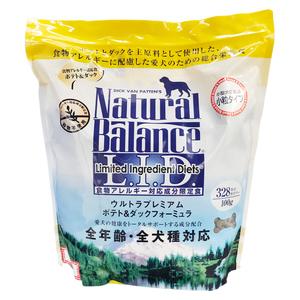 ナチュラルバランス ドッグフート ポテト&ダック(スモールバイツ・小粒) 4ポンド(1.82kg)