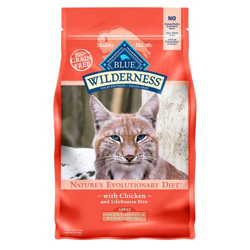 BLUE(ブルー) ウィルダネス 成猫用室内飼い・体重管理用&毛玉ケアチキン 2.27kg (正規輸入品)【在庫限り】