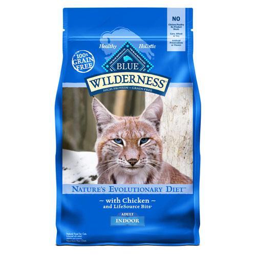 BLUE(ブルー) ウィルダネス 成猫用室内飼い・チキン 2.27kg (正規輸入品)【在庫限り】