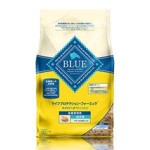 BLUE(ブルー) ライフプロテクション・フォーミュラ 成犬用 体重管理用 チキン&玄米 2.5kg【在庫限り】