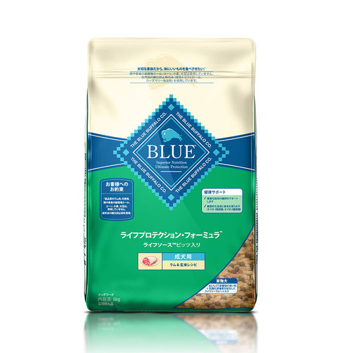 BLUE(ブルー) ライフプロテクション・フォーミュラ 成犬用 ラム&玄米 6kg