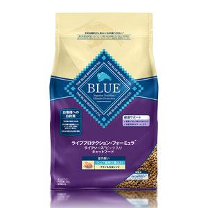 BLUE(ブルー) ライフプロテクション・フォーミュラ シニア猫用 7歳以上 室内飼い チキン&玄米 2kg【在庫限り】