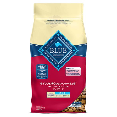 BLUE(ブルー) ライフプロテクション・フォーミュラ 成犬用 フィッシュ&玄米レシピ 900g【在庫限り】