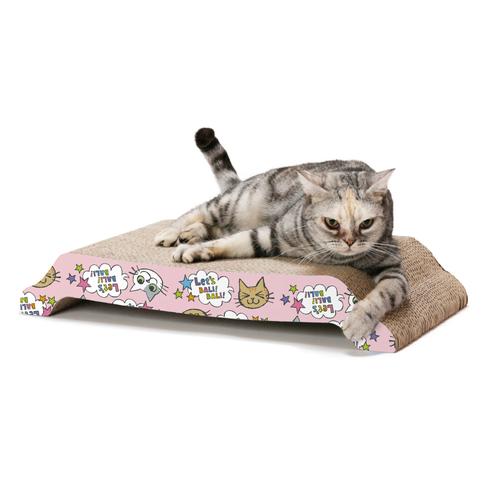 猫壱 バリバリ ベッド L 猫柄