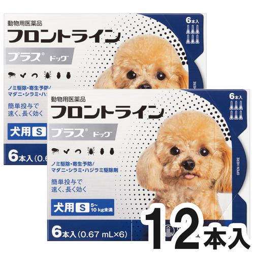 【2箱セット】犬用フロントラインプラスドッグS 5~10kg 6本(6ピペット)(動物用医薬品)