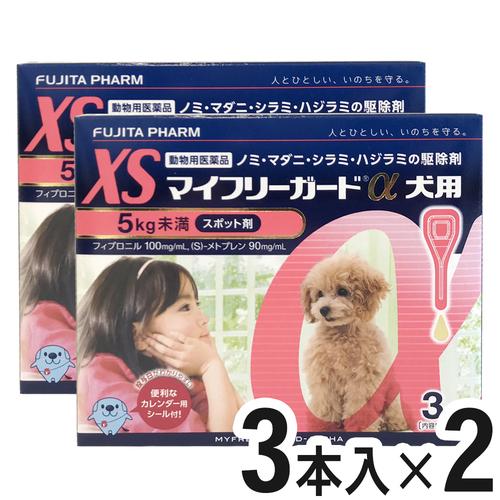 【2箱セット】マイフリーガードα 犬用 XS 5kg未満 3本(動物用医薬品)