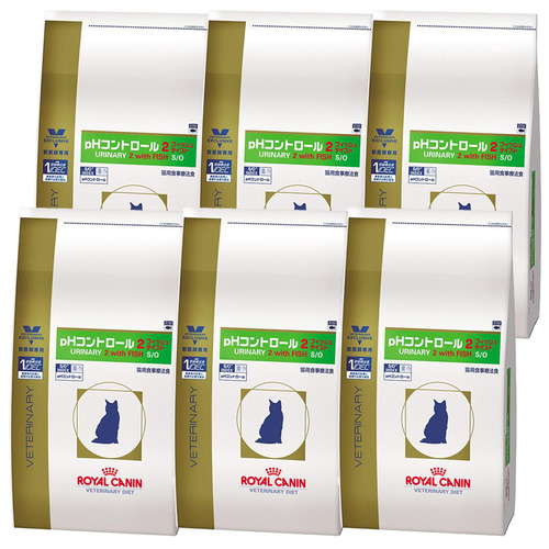 ロイヤルカナン 食事療法食 猫用 pHコントロール2 フィッシュテイスト ドライ 2kg×6袋【ケース販売】