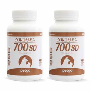 【2個セット】グルコサミン700SD チキンフレーバー 120粒(小粒)