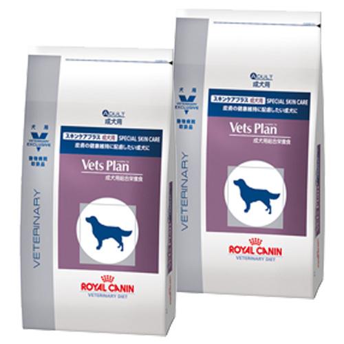 【2袋セット】ロイヤルカナン ベッツプラン 犬用 スキンケアプラス 成犬用 3kg