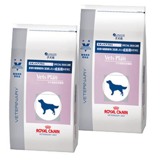 【2袋セット】ロイヤルカナン ベッツプラン 犬用 スキンケアプラス ジュニア 3kg