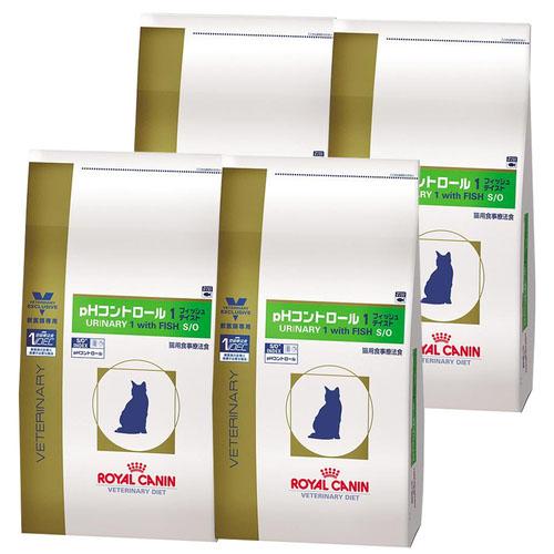 【4袋セット】ロイヤルカナン 食事療法食 猫用 pHコントロール1 フィッシュテイスト ドライ 500g