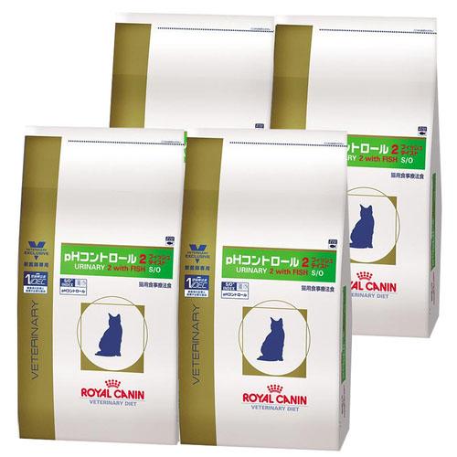 【4袋セット】ロイヤルカナン 食事療法食 猫用 pHコントロール2 フィッシュテイスト ドライ 500g