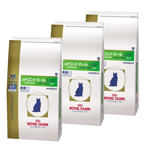【3袋セット】ロイヤルカナン 食事療法食 猫用 pHコントロール1 フィッシュテイスト ドライ 4kg