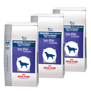 【3袋セット】ロイヤルカナン ベッツプラン 犬用 セレクトスキンケア 3kg
