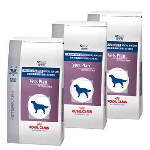 【3袋セット】ロイヤルカナン ベッツプラン 犬用 スキンケアプラス 成犬用 3kg