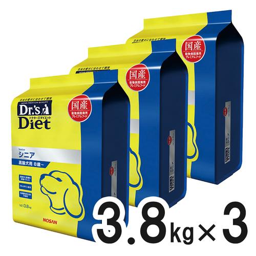 ドクターズダイエット 犬用 シニア 3.8kg×3袋【ケース販売】