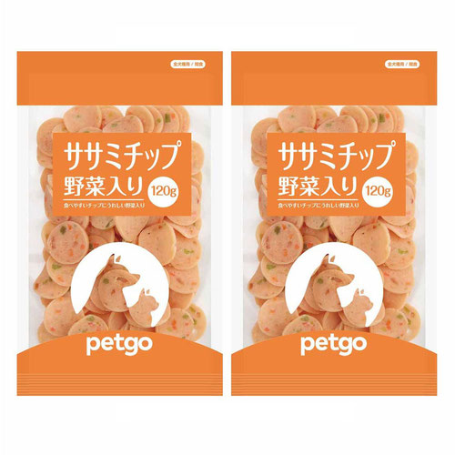 ペットゴー ササミチップ野菜入り 120g×2個【賞味期限間近】【在庫限り】