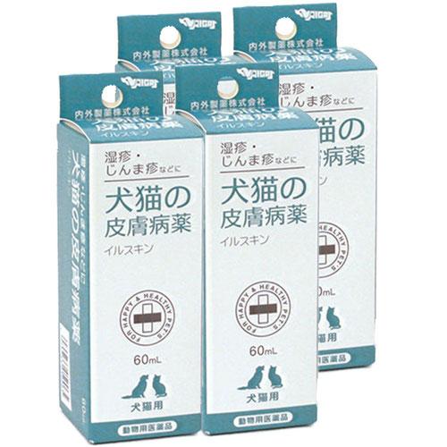 【4個セット】犬猫の皮膚病薬イルスキン 60mL(動物用医薬品)