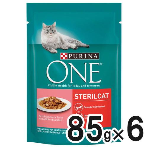 ピュリナワン キャット パウチ 避妊・去勢した猫用 サーモン にんじん入り 85g×6袋
