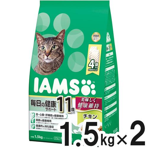 アイムス 11歳以上用 毎日の健康サポート チキン 1.5kg×2個【まとめ買い】