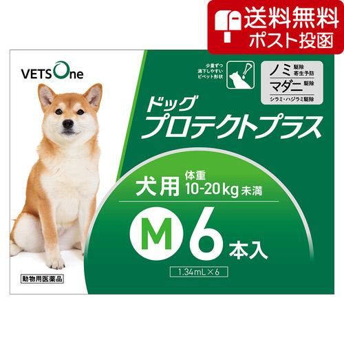 【ネコポス(同梱不可)】ベッツワン ドッグプロテクトプラス 犬用 M 10kg~20kg未満 6本 (動物用医薬品)