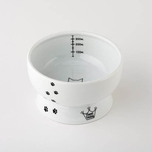 猫壱 ハッピーダイニング 脚付ウォーターボウル 猫柄 シリコン付き【アウトレット】