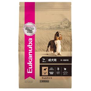 ユーカヌバ ラム&ライス 成犬用 中・大型犬用 1歳以上 7.5kg