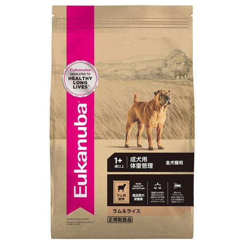 ユーカヌバ ラム&ライス 成犬用 体重管理 全犬種用 1歳以上 6kg