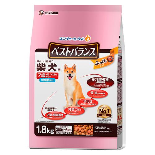ベストバランス ふっくら仕立て 柴犬用 7歳が近づく頃から始める低脂肪 ビーフ・野菜・小魚・玄米入り 1.8kg