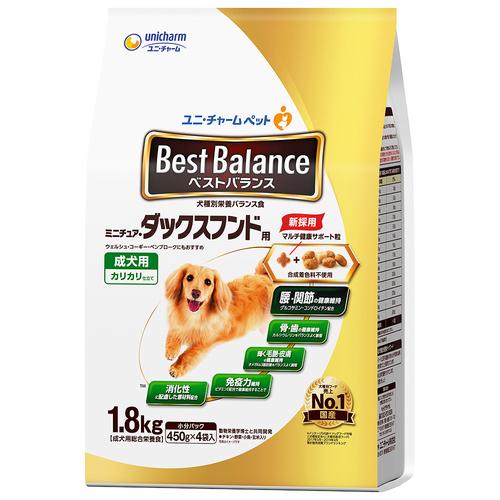 ベストバランス カリカリ仕立て ミニチュアダックスフンド用 成犬用 1.8kg