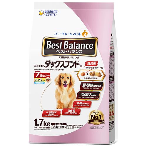 ベストバランス ふっくら仕立て ミニチュア・ダックスフンド用 7歳が近づく頃から始める低脂肪 1.7kg