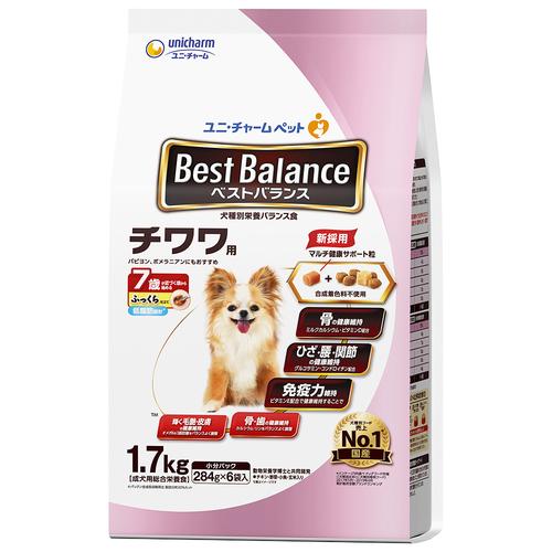 ベストバランス ふっくら仕立て チワワ用 7歳が近づく頃から始める低脂肪 1.7kg