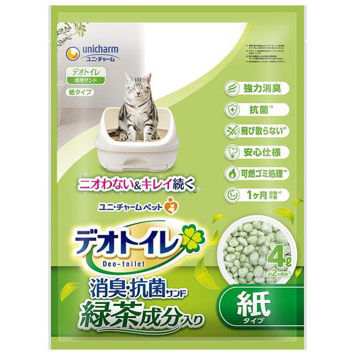 デオトイレ 飛び散らない緑茶成分入り消臭サンド 4L