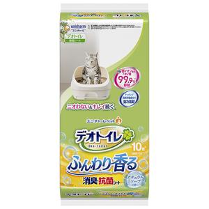 デオトイレ ふんわり香る消臭・抗菌シート ナチュラルソープの香り 10枚
