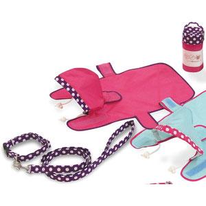 雨の日ポーチ コンビカラー ピンク M