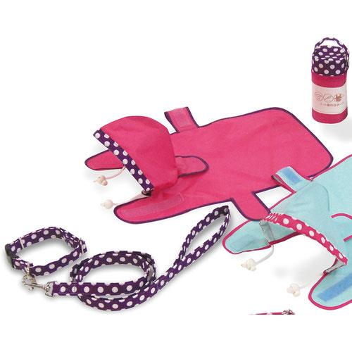 雨の日ポーチ コンビカラー ピンク L