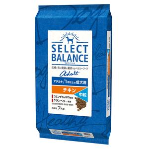セレクトバランス アダルト チキン 中粒 1才以上の成犬用7kg