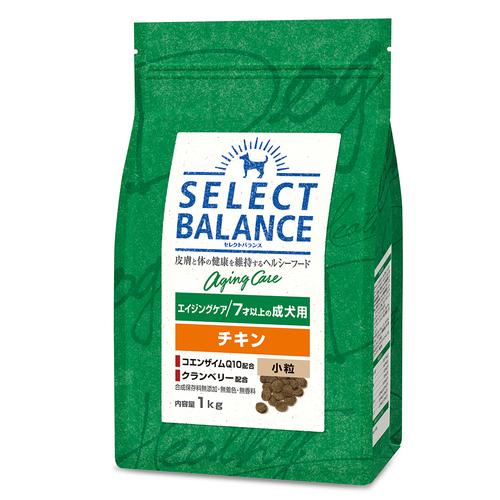 セレクトバランス エイジングケア チキン 小粒 7才以上の成犬用1kg