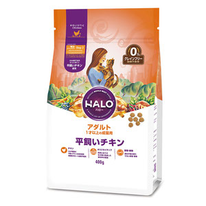 HALO(ハロー) 猫 アダルト 平飼いチキン グレインフリー 400g