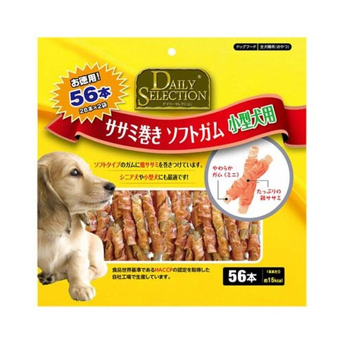 R&D デイリーセレクション ササミ巻き ソフトガム 小型犬用 お徳用 56本入