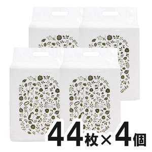 【new】ペットゴー 炭でニオイを吸着する超厚型シーツ ワイド 44枚×4個【まとめ買い】